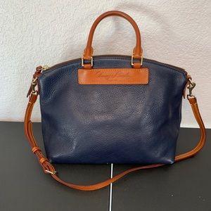 Dooney & Bourke Navy Dillen Satchel Shoulder Bag